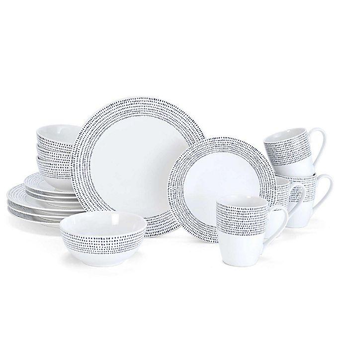 Alternate image 1 for Mikasa® Daylen 16-Piece Dinnerware Set in Cobalt