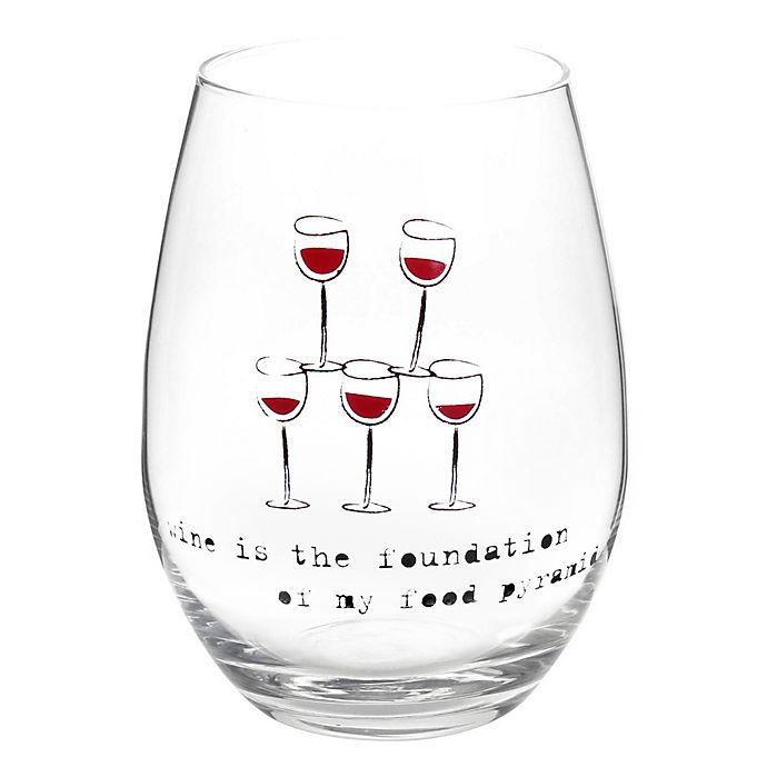 Alternate image 1 for Wine Food Pyramid Stemless Wine Glass