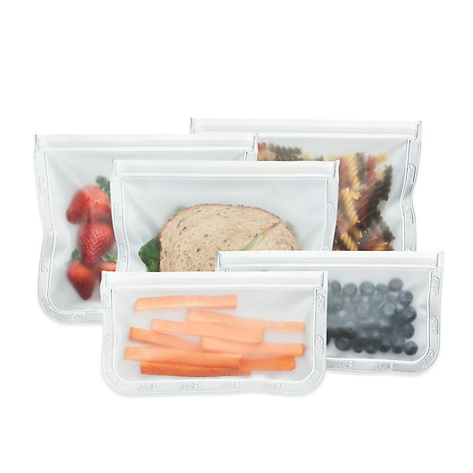 Alternate image 1 for BlueAvocado® Reusable (re)zip® Reusable Lunch Bags (Set of 5)