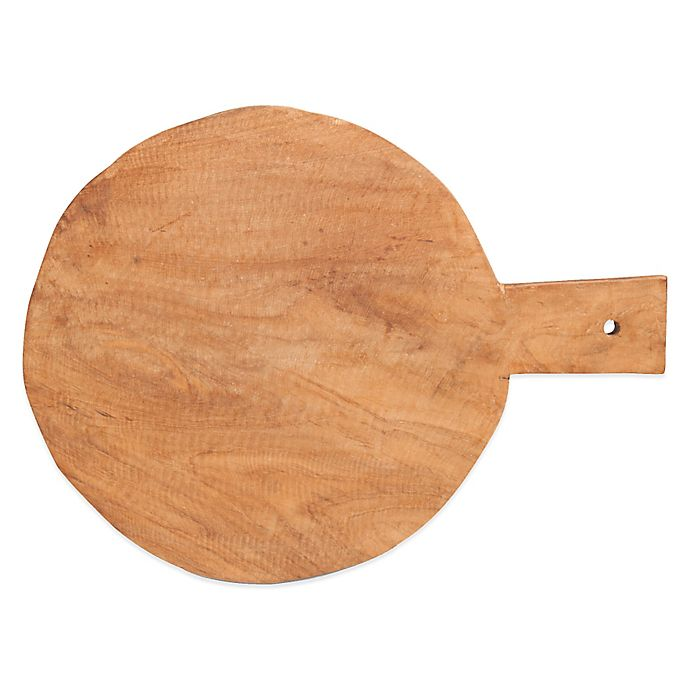 Alternate image 1 for Teak Round Handled Serving Board