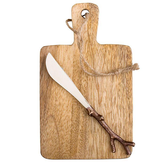 Alternate image 1 for Mango Wood Serving Board & Spreader