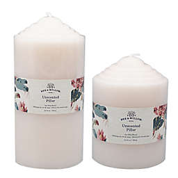 Bee & Willow™ Core Unscented Pillar Candle in Ivory
