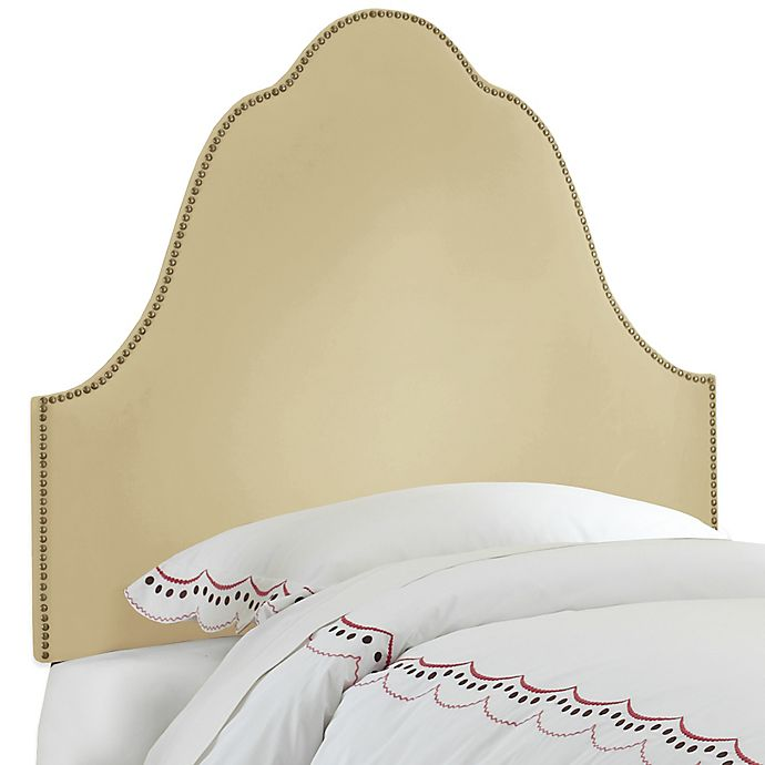Alternate image 1 for Skyline Furniture Arch Nail Button Twin Headboard in Velvet Buckwheat