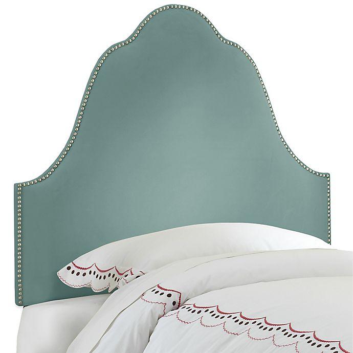 Alternate image 1 for Skyline Furniture Arch Nail Button Queen Headboard in Velvet Caribbean