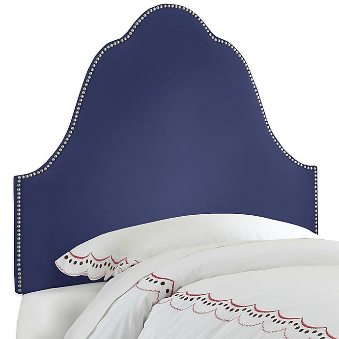 Alternate image 1 for Skyline Furniture Arch Nail Button Twin Headboard in Velvet Royal