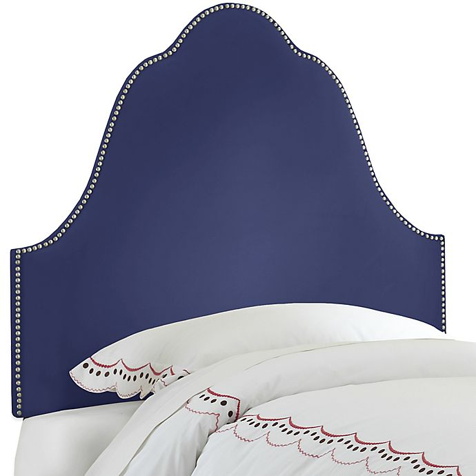 Alternate image 1 for Skyline Furniture Arch Nail Button Queen Headboard in Velvet Royal