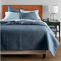 Nestwell™ Stripe Texture 3-Piece King Quilt Set in Midnight Navy