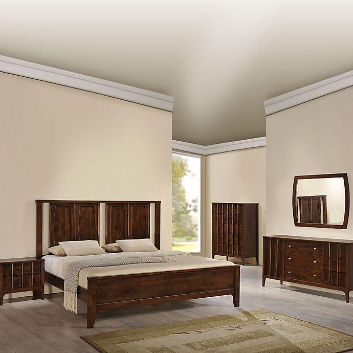 Buy Zuo® Portland King Bedroom Set In Walnut From Bed Bath