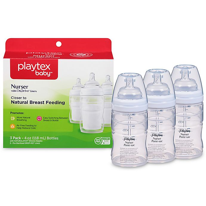 Alternate image 1 for Playtex® 3-Pack 4-Ounce Baby Drop-Ins Nurser