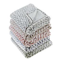 Design Imports Chevron Plush Throw Blanket