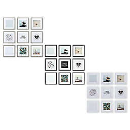 Gallery Perfect 9-Piece Wall Frame Set with White Mat