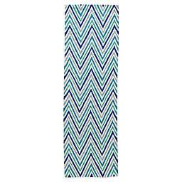 Momeni Geo 2-Foot x 6-Foot Rug in Blue