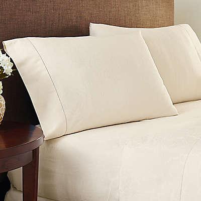 Crowning Touch Cotton Naturals 100% Cotton Jacquard Sheet Set
