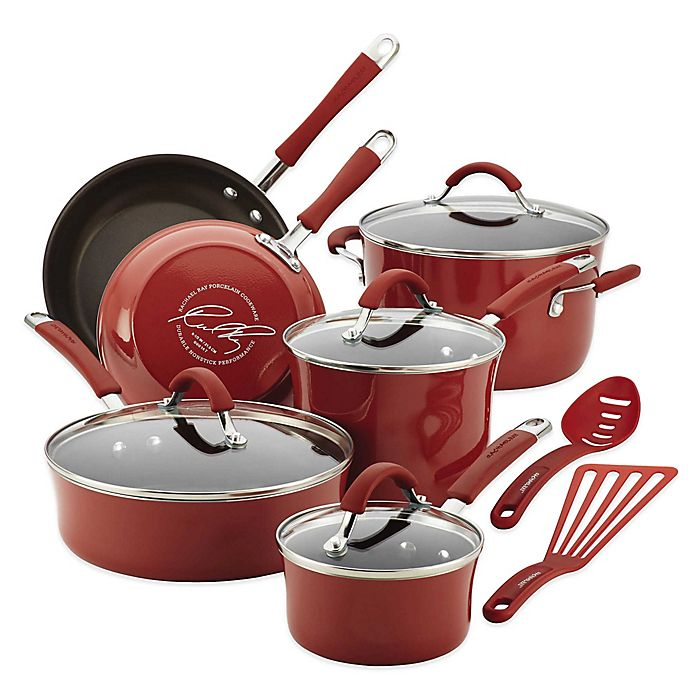 Alternate image 1 for Rachael Ray™ Cucina 12-Piece Hard Enamel Cookware Set