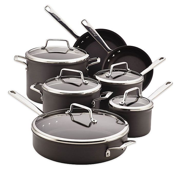 Alternate image 1 for Anolon® Authority 12-Piece Hard-Anodized Nonstick Cookware Set