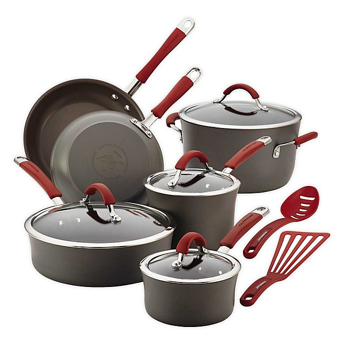 Alternate image 1 for Rachael Ray™ Cucina Hard-Anodized 12-Piece Cookware
