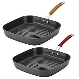 Rachael Ray Cucina 11-Inch Deep Square Grill Pan