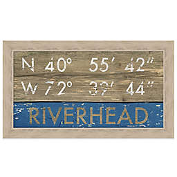 Riverhead Coordinates Framed Wall Art
