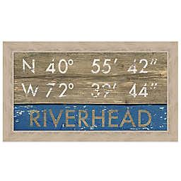 Riverhead Coordinates 16-Inch x 28-Inch Framed Wall Art