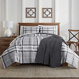 Lee 8-Piece Full Comforter Set in Grey