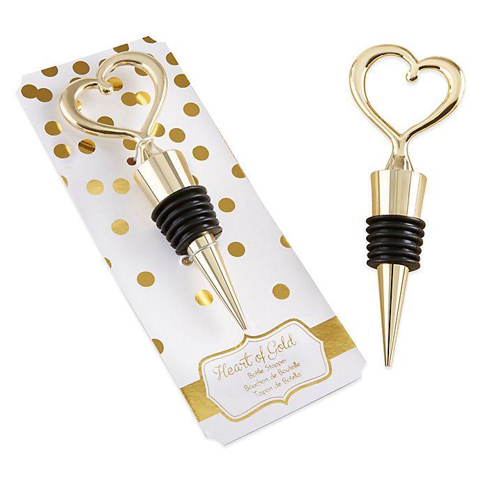 Alternate image 1 for Kate Aspen® Heart of Gold Bottle Stopper