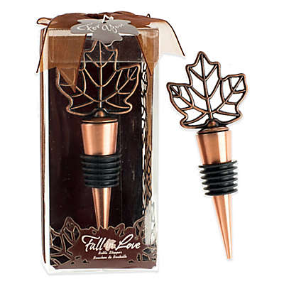 Kate Aspen® Lustrous Leaf Bottle Stopper in Copper