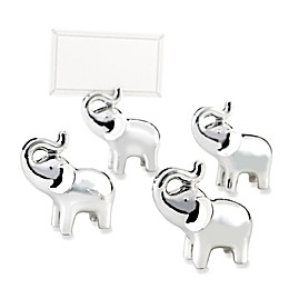 Kate Aspen® Lucky in Love Elephant Place Card/Photo Holders in Silver (Set of 4)