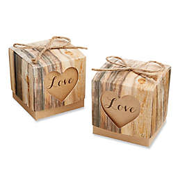 Kate Aspen® Hearts in Love Rustic Favor Boxes (Set of 24)