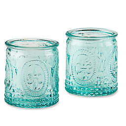 Kate Aspen® Vintage Blue Glass Tealight Holder (Set of 4)