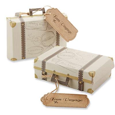 """Kate Aspen® """"Bon Voyage"""" Suitcase Favor Boxes (Set of 24)"""