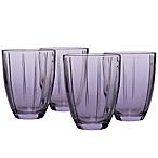 Noritake® Colorwave Glassware Tumblers in Plum (Set of 4)