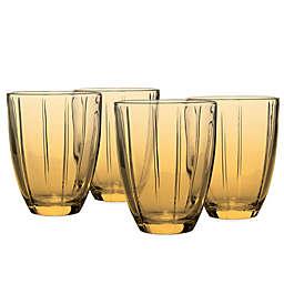 Noritake® Colorwave Glassware Tumblers in Amber (Set of 4)