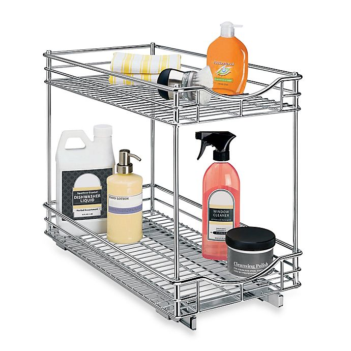 Alternate image 1 for Lynk Professional 11-Inch x 18-Inch Roll-Out Under-Sink Double Drawer