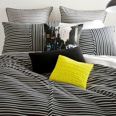 Dkny Transit Duvet Cover In Black Ivory Bed Bath And