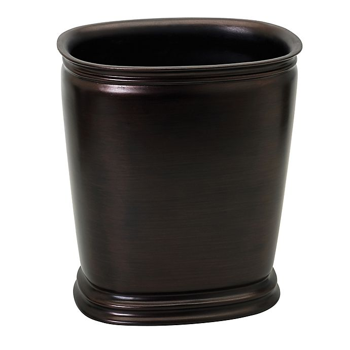 India ink winston wastebasket in oil rubbed bronze bed bath beyond for Oil rubbed bronze bathroom wastebasket