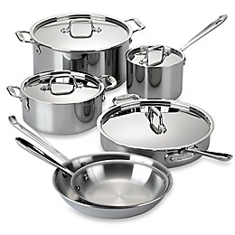 All-Clad D3 Stainless Steel 10-Piece Cookware Set