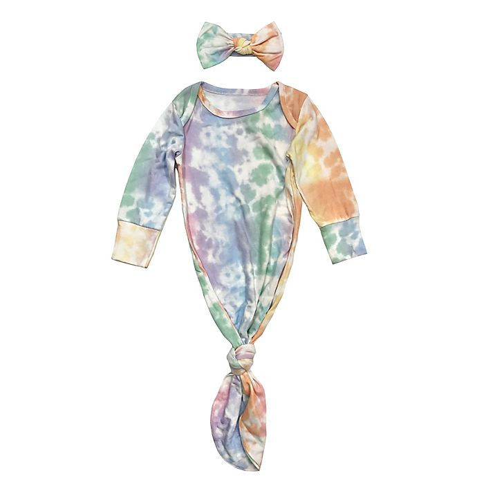 Alternate image 1 for Toby Fairy™ Size 0-3M 2-Piece Rainbow Gown and Headband Set