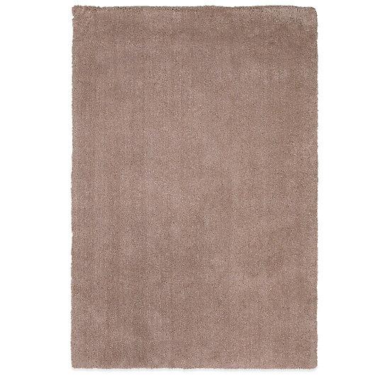 Alternate image 1 for KAS Bliss Solid Shag 5-Foot x 7-Foot Rug in Beige