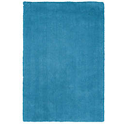 KAS Bliss Solid Shag 5-Foot x 7-Foot Rug in Blue