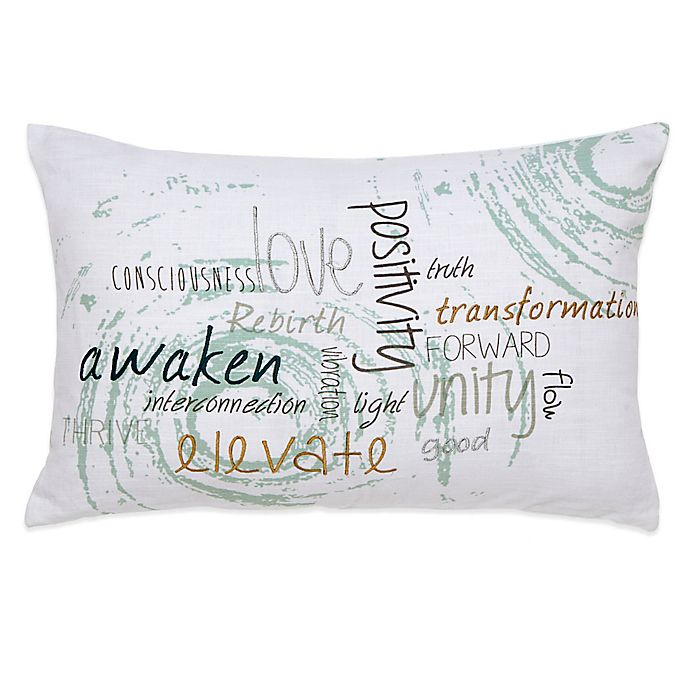 Alternate image 1 for Under the Canopy® Metamorphosis Awaken Organic Cotton Oblong Throw Pillow
