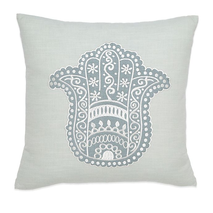 Alternate image 1 for Under the Canopy® Metamorphosis Hamsa Happiness Organic Cotton Square Throw Pillow