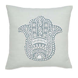 Under the Canopy® Metamorphosis Hamsa Happiness Organic Cotton Square Throw Pillow