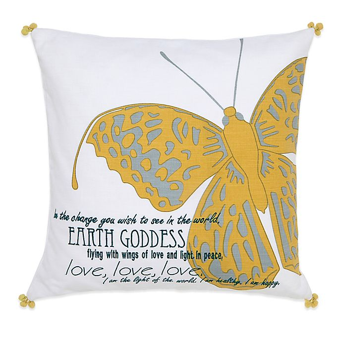 Alternate image 1 for Under the Canopy® Metamorphosis Earth Goddess Organic Cotton Square Throw Pillow