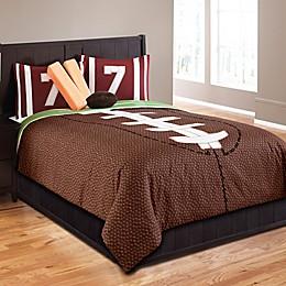 Field Goal 5-Piece Comforter Set in Brown