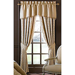 Waterford Linens Anya 84 Inch Window Curtain Panel Pair In Gold