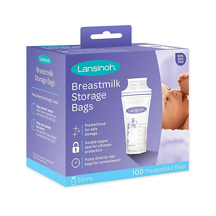 Alternate image 1 for Lansinoh® 100-Count Breastmilk Storage Bags