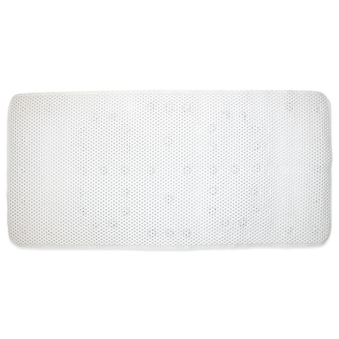 Alternate image 1 for Ginsey Cushioned Bath Mat in White