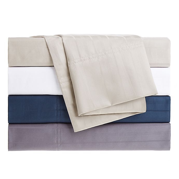 Alternate image 1 for Nestwell™ Egyptian Cotton Sateen Striped 625-Thread-Count Sheet Set