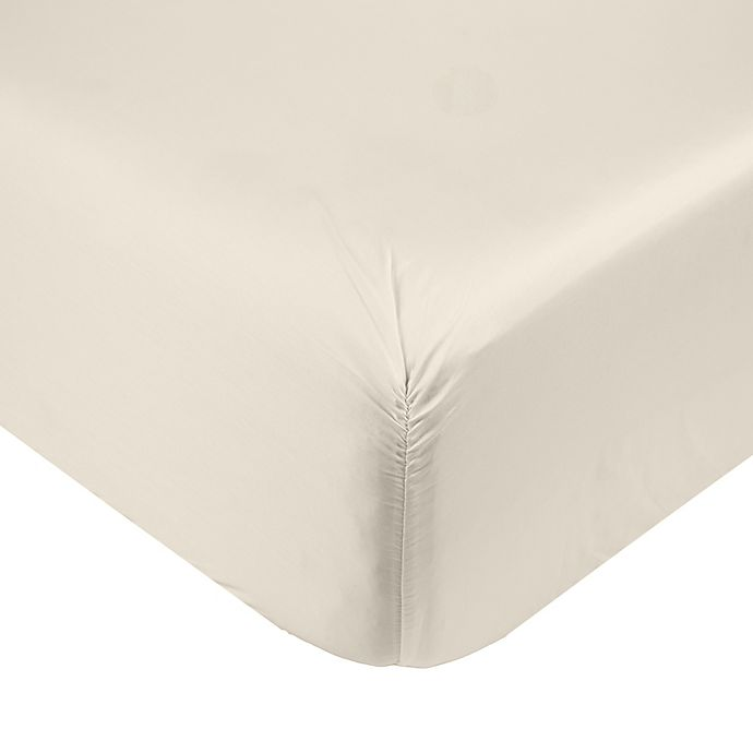 Alternate image 1 for Nestwell™ Cotton Sateen 400-Thread-Count Fitted Sheet