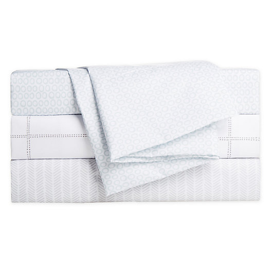 Alternate image 1 for Simply Essential™ Truly Soft™ Microfiber Printed Sheet Set